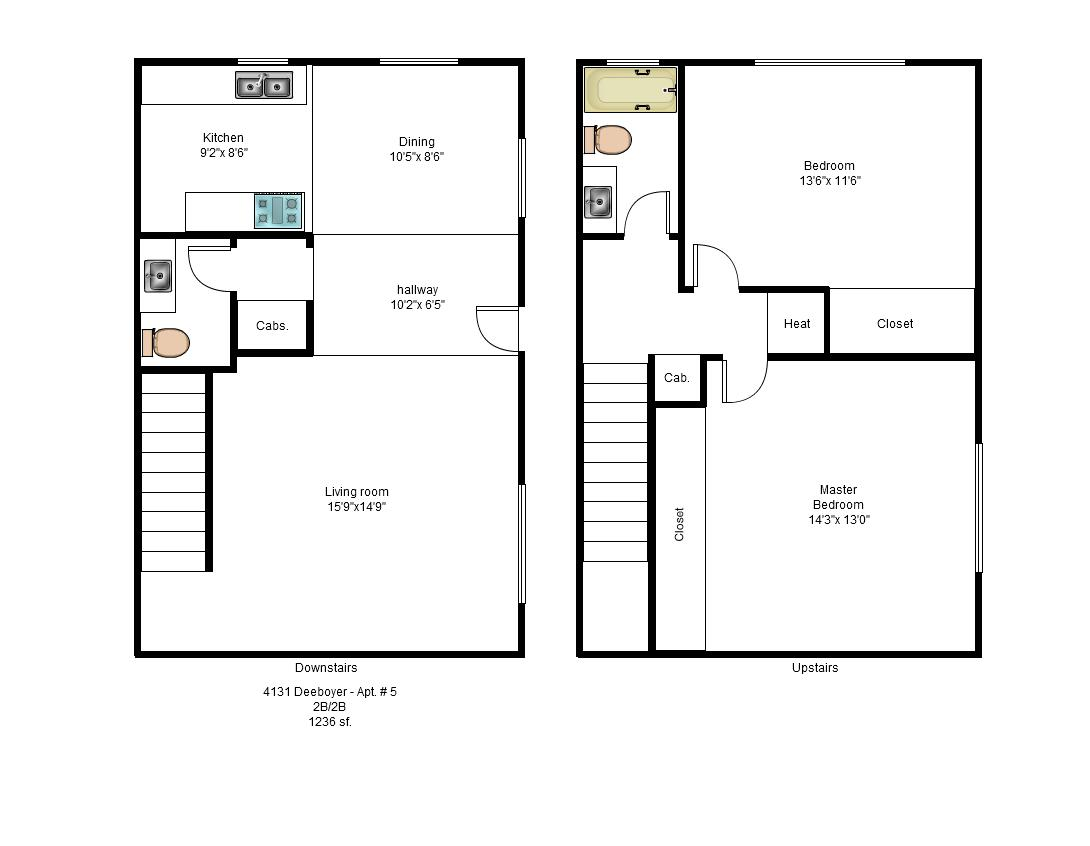 Professional real estate management for 2 story 2 bedroom apartment plans