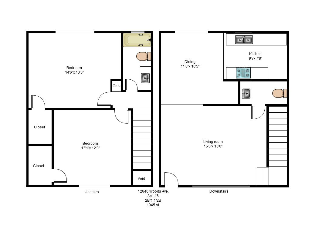 Two Story Apartment Floor Plans Three Bedroom Apartment
